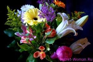 Какие цветы дольше простоят в букете?